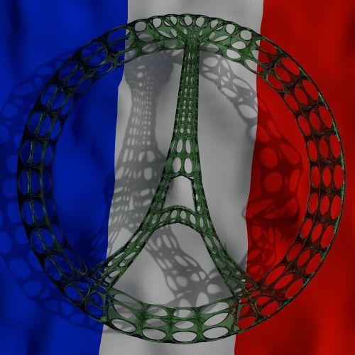 france eiffel peace