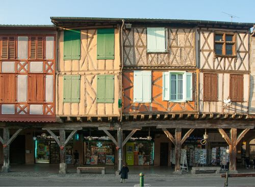 france mirepoix timbered houses