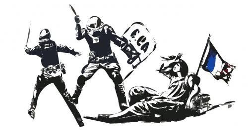 france,policija,revoliucija,smurtas,Prancūzų kalba,teisė,apsauga,vykdymas,nemokama vektorinė grafika