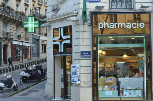 france  paris pharmacy  streets