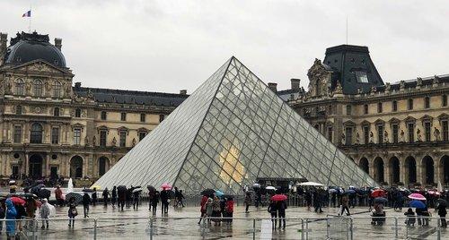 france  paris  louvre pyramid
