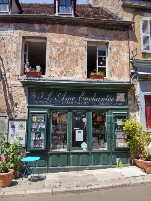 france bookshop old house