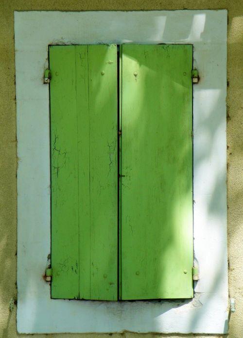 shutters window green