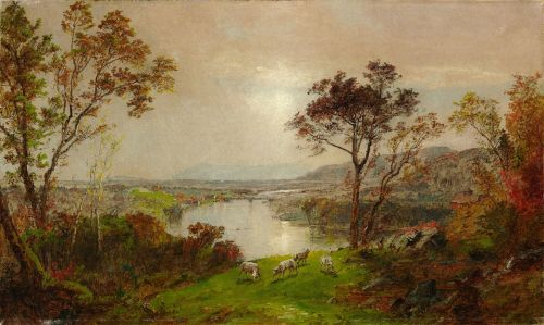 francis cropsey painting oil on canvas