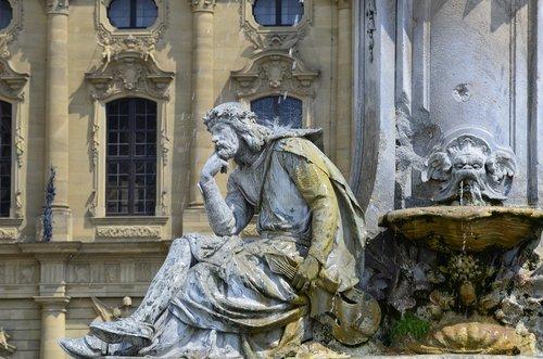 franconia fountain  würzburg  residence