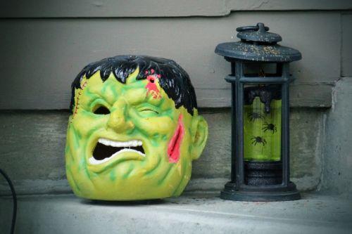 Frankenstein Head And Lantern