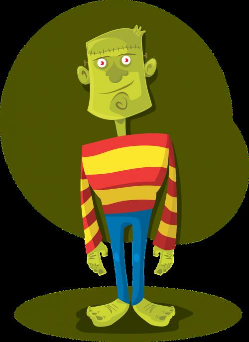 frankenstein monster halloween vector character halloween frankenstein