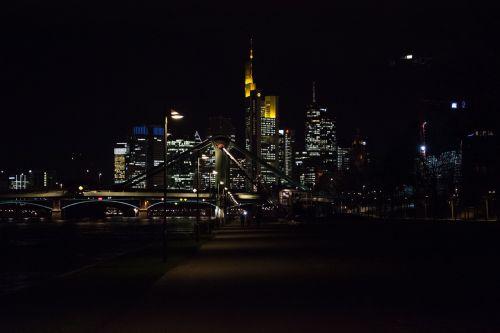 frankfurt night city