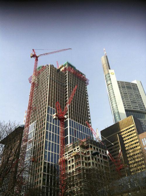 frankfurt skyscrapers build
