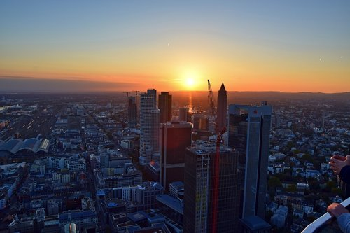 frankfurt  main tower  outlook