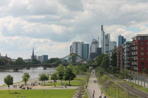 frankfurt am main germany skyline main