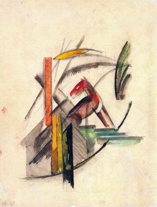 painting franz marc abstract