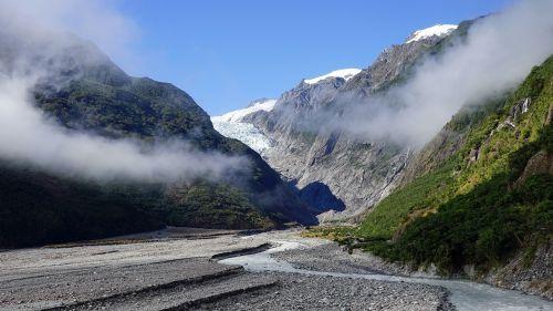 franzjosef ledynas,Naujoji Zelandija,pietų sala,Rokas,pietų alpėse,kraštovaizdžio nuotrauka