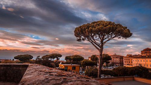 frascati rome sunset