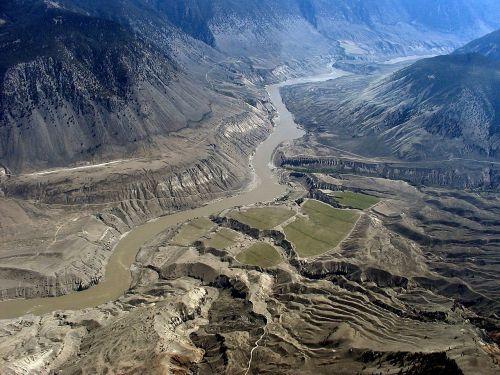 fraser river aerial view fraser plateau