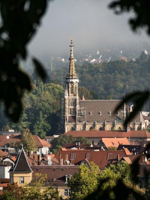 frauenkirche esslingen fog