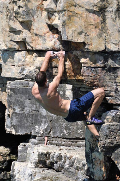 free climbing rock climb