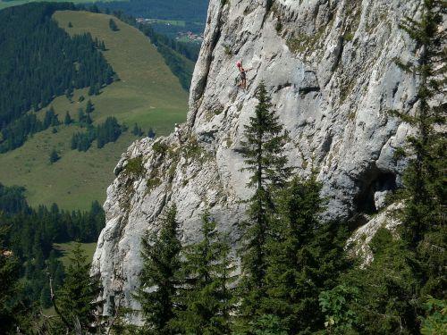 free climbing mountaineer kampenwand