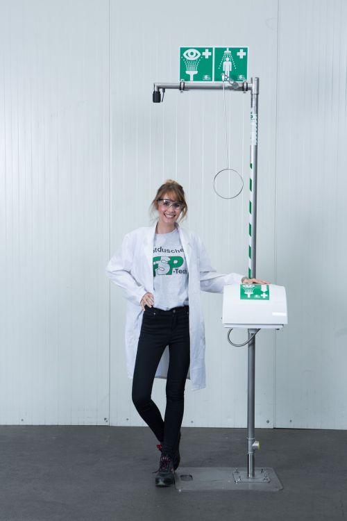 free-standing emergency shower body safety shower eye shower