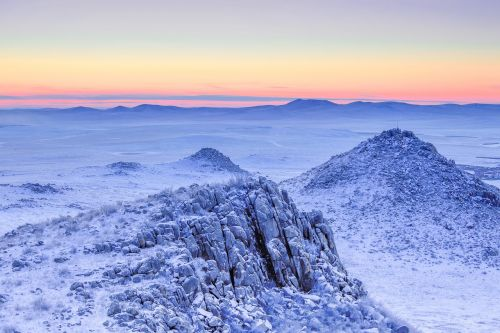freezing earth before sunrise minus 25 degrees c