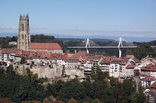 freiburg switzerland bridge cathedral