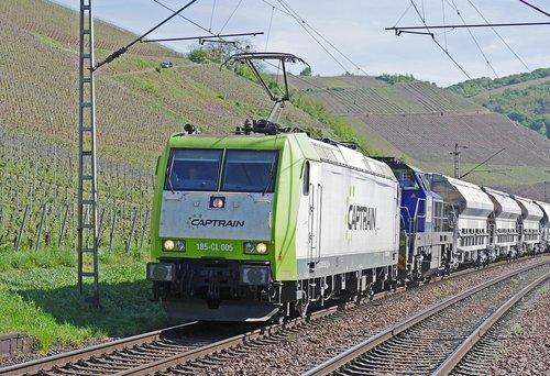 freight train  private railway  diesel locomotive