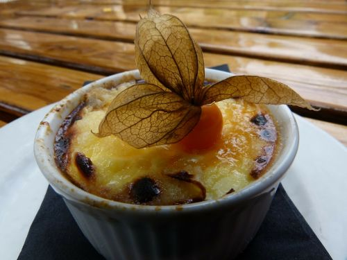 french creme brulee food