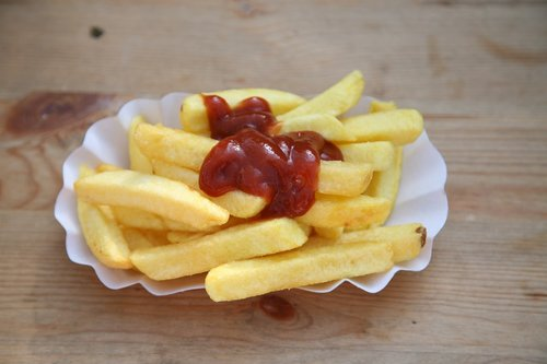 french fries  tomato sauce  food