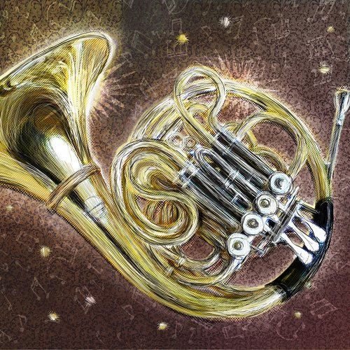 french horn  horn  musical instrument