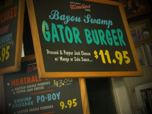 french quarters gator burger new orleans
