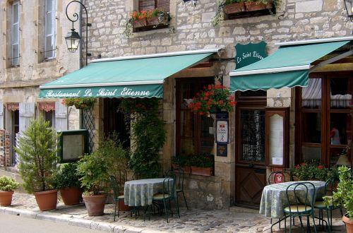 french restaurant french village france