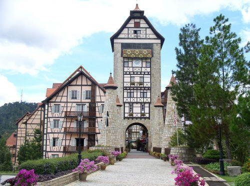french village style resort bukit tinggi pahang