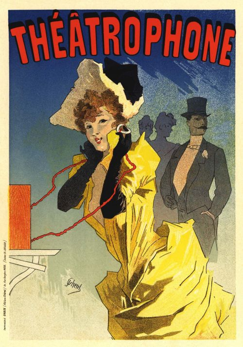 French Vintage Poster Theater Ad