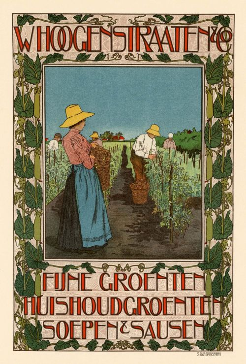 French Vintage Poster Vegetable Ad