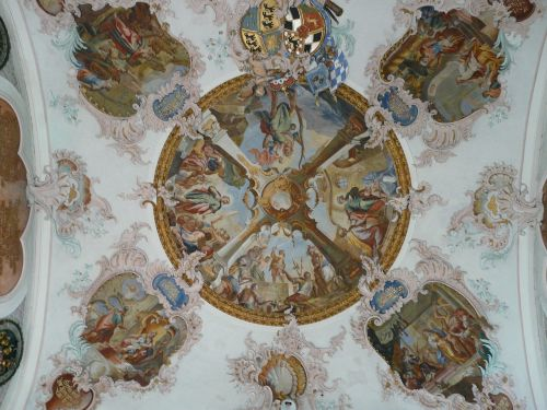 fresco cover painting church