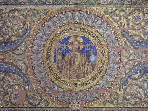 frescoes decorating the vault