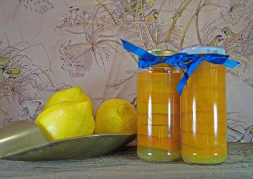 Fresh Lemons With Pickled Slices