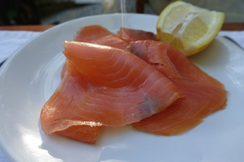 fresh smoked salmon salmon fish