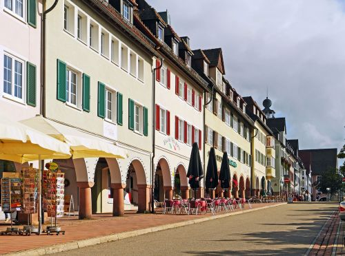 freudenstadt historic market square row of houses
