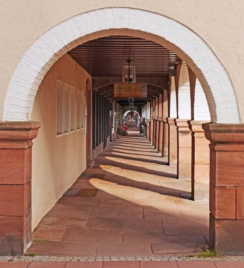 freudenstadt archway town hall square