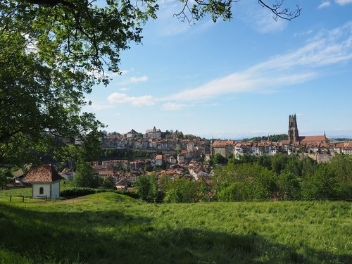 fribourg  city  switzerland
