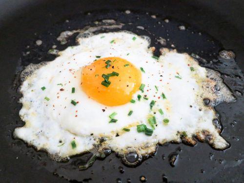 fried egg yolk
