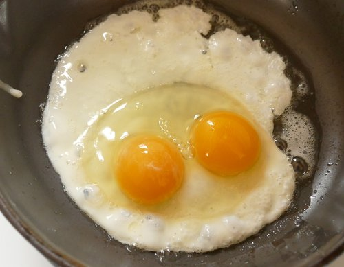 fried egg  double yolked egg  egg with two yolks