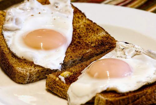 fried eggs breakfast toast