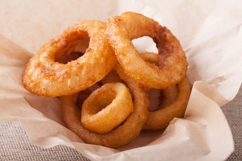 fried onion  fried food  circle