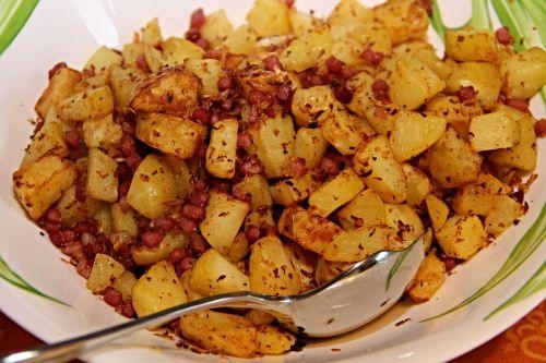 fried potatoes bacon onions