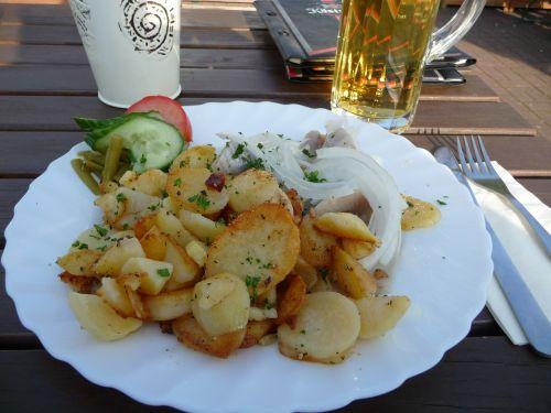 fried potatoes eat restaurant