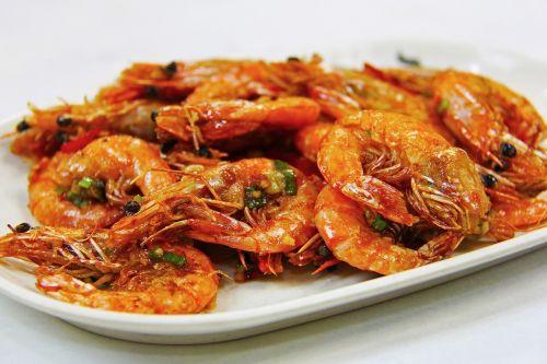 fried prawn prawn seafood