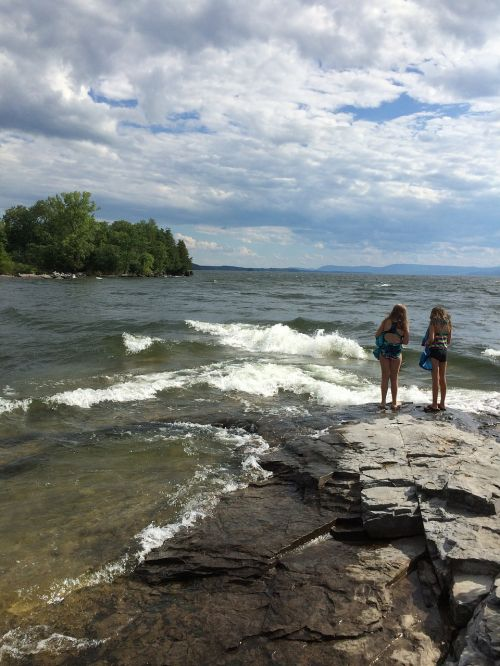 friends girls lake champlain