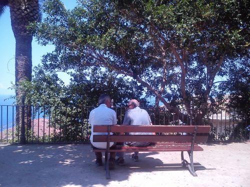 friendship landscape elderly